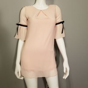 Pink Chiffon Mini Dress sz 12